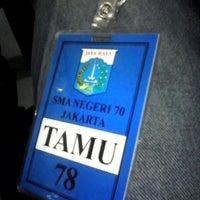 Photo taken at SMAN 70 Jakarta by Merdian S. on 2/11/2014