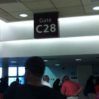 Photo taken at Gate C28 by Amber P. on 5/2/2013
