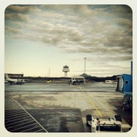 Photo taken at Bergen Lufthavn, Flesland (BGO) by Tarjei H. on 11/4/2012