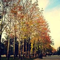 Photo taken at Hüseyn Cavid parkı by Lutfia E. on 12/2/2013