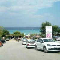 Photo taken at Almyra Beach Bar by Melek I. on 8/16/2017