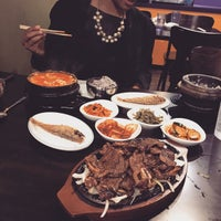 Photo taken at Myung-dong Soft Tofu House Korean Restaurant by FWMJ k. on 1/15/2015