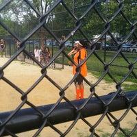 Photo taken at Kissena Park Softball Fields by Steven T. on 7/8/2014