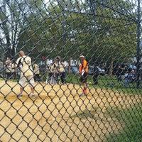 Photo taken at Kissena Park Softball Fields by Steven T. on 9/19/2014