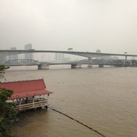 Photo taken at Rama III Bridge by Chinnapat V. on 10/16/2012