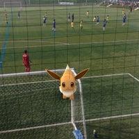 Photo taken at 伊勢フットボールヴィレッジ Aピッチ by Yasunori T. on 7/23/2016