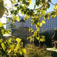 Photo taken at Храм св. мч. Трифона в Напрудном by Ilya Y. on 9/20/2015