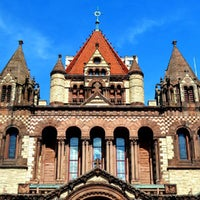 Photo taken at Copley Square by Doug P. on 8/16/2013