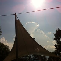 Photo taken at Schwimmbad by Elif S. on 9/8/2014