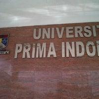 Photo taken at Universitas Prima Indonesia ( kampus II ) by adi j. on 2/6/2013