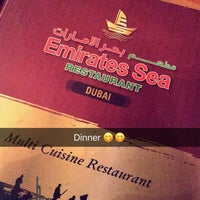 Photo taken at مطعم بحر الامارات Emirates Seafood Restaurant by Leign M. on 3/6/2017