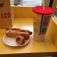 Photo taken at Papaya King by RL T. on 7/28/2014