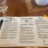 Photo taken at Vynecrest Vineyard & Winery by Tracey W. on 12/26/2017