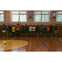 Photo taken at Гимназия №1518 by Darina P. on 12/21/2013