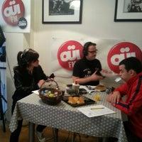 Photo taken at Ouï FM by Delphine F. on 4/18/2014