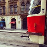 Photo taken at Bílá labuť (tram, bus) by Nikolia D. on 8/3/2014