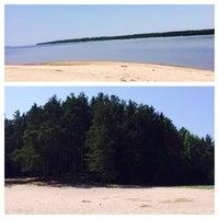 Photo taken at Пляж Прибой by Natali😻 on 5/25/2014