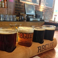 Photo taken at Rogue Ales Public House by Andrew P. on 6/1/2013