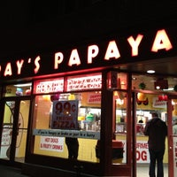 Photo taken at Gray's Papaya by SMILEY_ROY on 11/29/2012