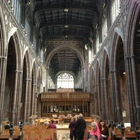 Photo taken at Manchester Cathedral by Andrea S. on 10/20/2012