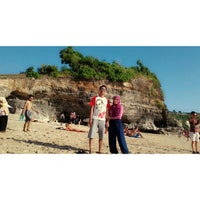 Photo taken at Dreamland Beach by virly v. on 8/26/2013