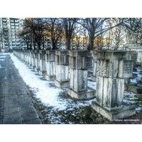 Photo taken at Cmentarz na Zaspie by Tomasz on 11/26/2013