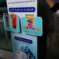 Photo taken at samsung band shop by Lin D. on 8/15/2014