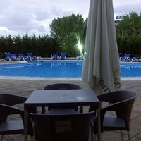 Photo taken at Hotel Meia Lua by Pedro F. on 7/26/2013