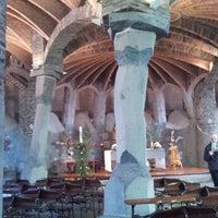 Photo taken at Cripta Gaudí by Yohay E. on 4/6/2013