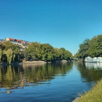 Photo taken at Landwehrkanal by Adam F. on 7/21/2013