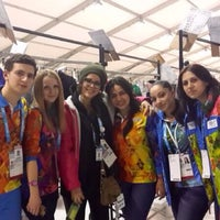 Photo taken at olympic ceremonies costume tent by Маша С. on 3/10/2014