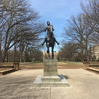 Photo taken at Joan of Arc Statue - Meridian Hill Park by Armie on 4/5/2017
