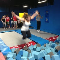 Photo taken at Bounce Trampoline Sports by Maria G. on 8/13/2013