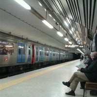 Photo taken at Metro Entrecampos [AM] by André S. on 2/4/2013