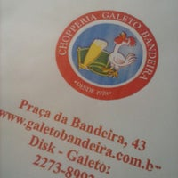 Foto tirada no(a) Chopperia Galeto Bandeira por Rodrigo X. em 9/24/2014