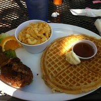 Photo taken at Home Of Chicken and Waffles by Eymi A. on 7/14/2013