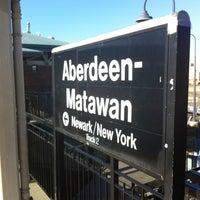 Photo taken at NJT - Aberdeen-Matawan Station (NJCL) by Chris R. on 12/14/2012