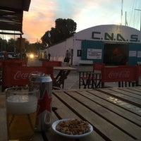 Photo taken at Club Nautico Atlantico Sud by Ezequiel F. on 4/2/2015