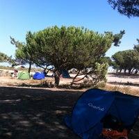 Photo taken at Praia da Ponta do Mato by Nuno M. on 9/7/2013