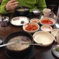 Photo taken at 신의주 부대찌개 찹쌀순대 by Hun S. on 1/17/2014