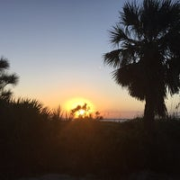 Photo taken at Coligny Beach by Amy L. on 10/18/2017