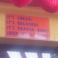 Photo taken at Papaya Dog by Patrick H. on 3/27/2013