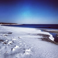 Photo taken at Scarborough State Beach by Arianna L. on 1/22/2013