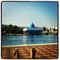 Photo taken at Marco Polo RIU Hotel Hammamet by Nacho B. on 9/19/2012