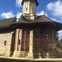 Photo taken at Biserica Mânăstirii Moldovița by Bodea⚽️ on 10/30/2016
