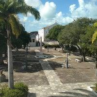 Photo taken at Praça Dois Leões by Lenilda L. on 7/23/2016