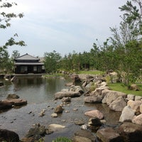 Photo taken at 帰真園旧清水邸書院 by Takeshi N. on 7/28/2013