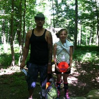 Photo taken at Marshall Street Pyramids Disc Golf Course by Vania D. on 8/5/2013