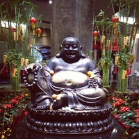 Photo taken at Big Buddah Statue at ARIA by Cheryl K. on 2/23/2013