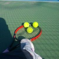 Photo taken at Tenis Kortları by Belgin A. on 1/27/2016